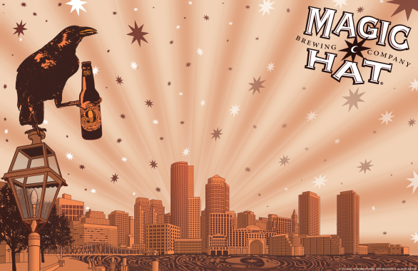 Customizable poster created for Magic Hat Brewing Company's Boston accounts.